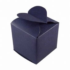 Navy Blue Heart Top Designer Favour Boxes